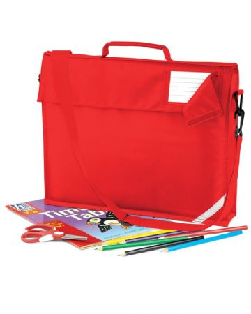 NOSS PRIMARY SCHOOL JUNIOR RED BOOK BAG WITH STRAP WITH LOGO